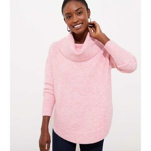 Loft Womens XS Cowl Neck Poncho Sweater Pink
